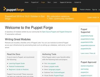 forge.puppet.com screenshot