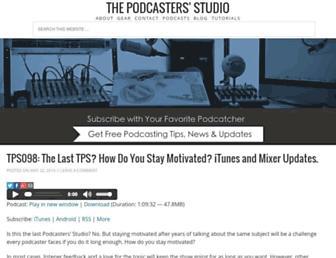thepodcastersstudio.com screenshot