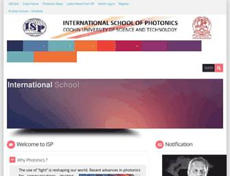 photonics.cusat.edu screenshot