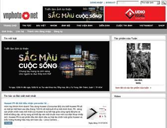 Main page screenshot of vnphoto.net