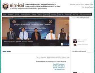 nirc-icai.org screenshot