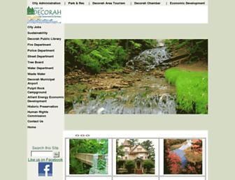 decorahia.org screenshot