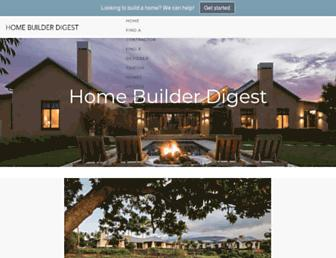 homebuilderdigest.com screenshot