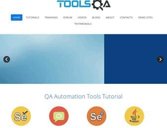 toolsqa.com screenshot