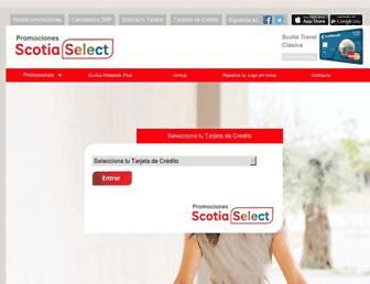 Thumbshot of Scotiaselect.com.mx