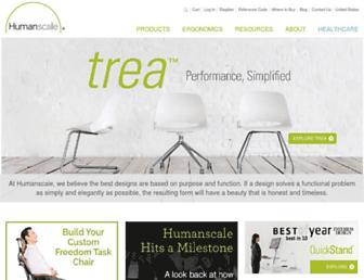 humanscale.com screenshot