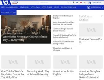 learningenglish.voanews.com screenshot