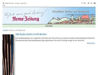 Main page screenshot of remszeitung.de