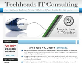 Main page screenshot of sanantoniocomputerrepair.net