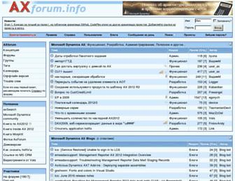 Main page screenshot of axforum.info