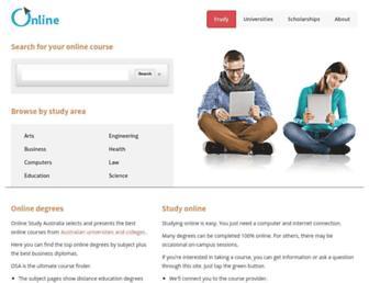 onlinestudyaustralia.com screenshot