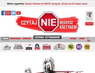 Main page screenshot of nie.com.pl