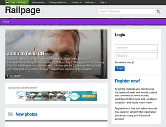 railpage.com.au screenshot