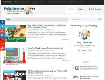 fullylicensekey.com screenshot