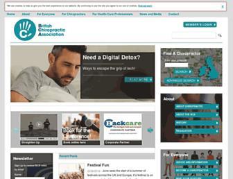 chiropractic-uk.co.uk screenshot