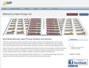 netclabels.co.uk screenshot