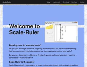 scale-ruler.com screenshot