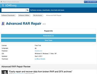 advanced-rar-repair.en.lo4d.com screenshot