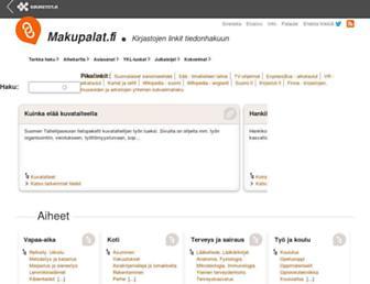 Main page screenshot of makupalat.fi