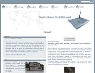 Main page screenshot of mfs.rs