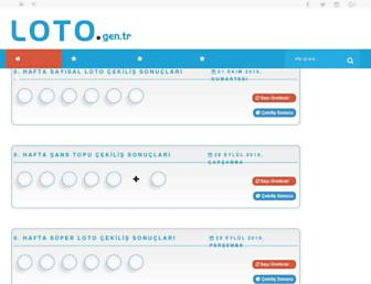 loto.gen.tr screenshot