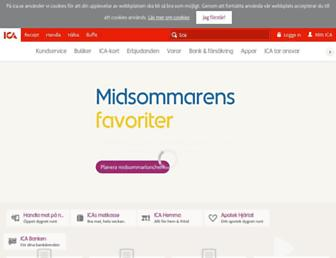 Main page screenshot of ica.se