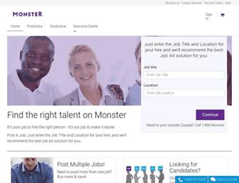 hiring.monster.ca screenshot