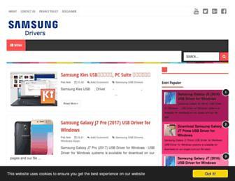 samsungusbdrivers.net screenshot