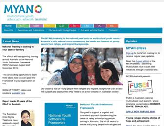 myan.org.au screenshot