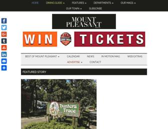 mountpleasantmagazine.com screenshot