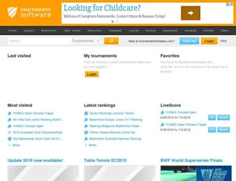 tournamentsoftware.com screenshot