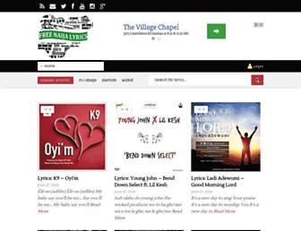 freenaijalyrics.com screenshot