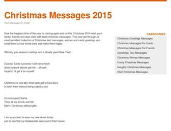 christmasmessages123.info screenshot