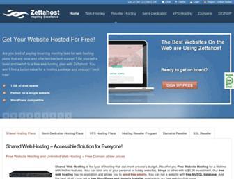 zettahost.com screenshot