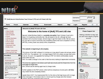 Main page screenshot of tf2nubs.co.uk