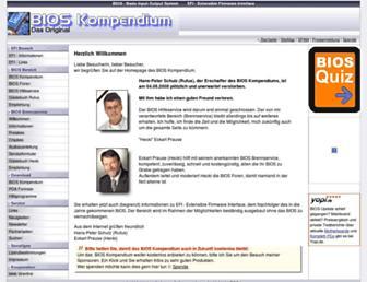 Main page screenshot of bios-info.de