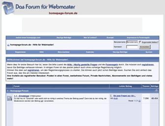 Main page screenshot of homepage-forum.de