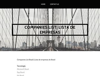 Main page screenshot of list-of-companies.org