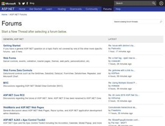 forums.asp.net screenshot