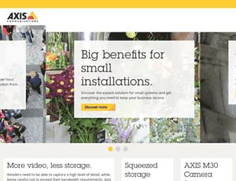 axis.com screenshot