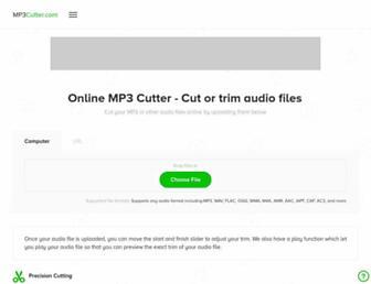 mp3cutter.com screenshot