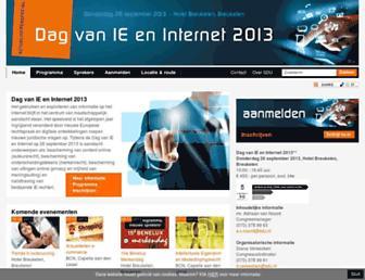 Main page screenshot of dagvanieeninternet.nl