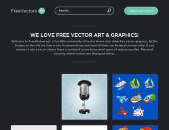 Main page screenshot of freevectors.net