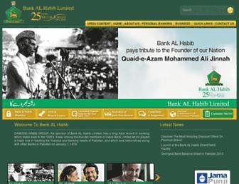 Thumbshot of Bankalhabib.com
