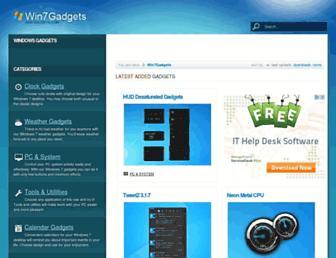 win7gadgets.com screenshot
