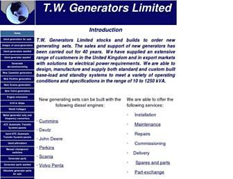 twgenerators.co.uk screenshot