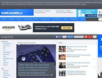 Main page screenshot of eurogamer.pt