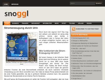 Main page screenshot of snoogl.de