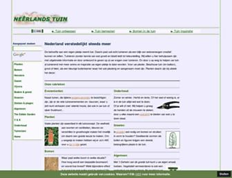 Main page screenshot of neerlandstuin.nl