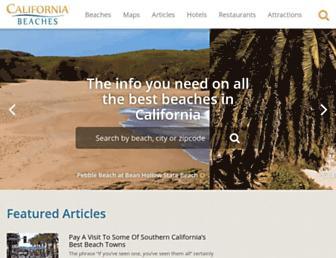 californiabeaches.com screenshot
